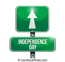 independence day street sign illustration design