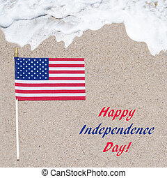 Independence Day USA background with flag