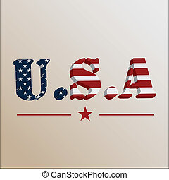 Independence Day USA over color Background