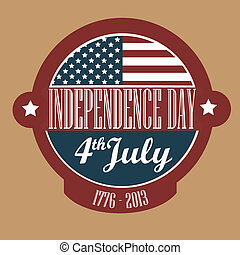 independence day over brown  background vector illustration