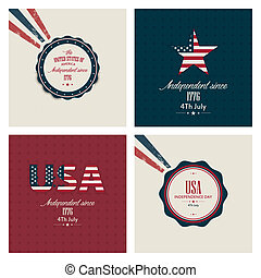Independence day - Four Independence day backgrounds with...
