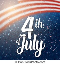 Independence Day Vector Poster. 4th of July USA