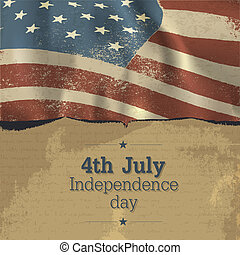 Independence day vintage poster design. Vector, EPS10