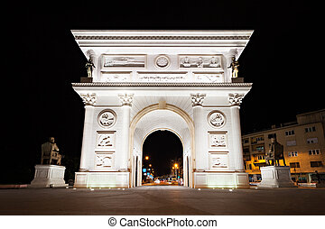 Independence Gate, Skopje - Gate on the main square of ...