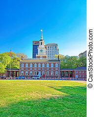 Independence Hall at Chestnut Street of Philadelphia PA