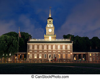 Independence Hall Solo - Independence Hall with background...