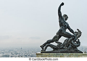 Independence Monument at Budapest, Hungary