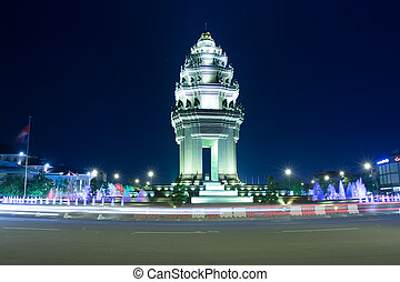 independence monument in phnom penh, Cambodia