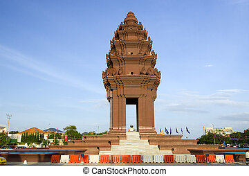 Independence Monument in Phnom Penh - Independence Monument...