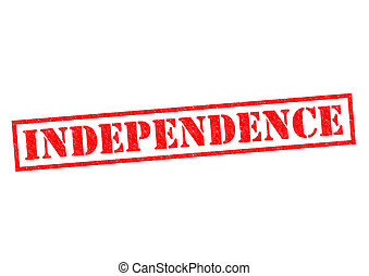 INDEPENDENCE red Rubber Stamp over a white background.
