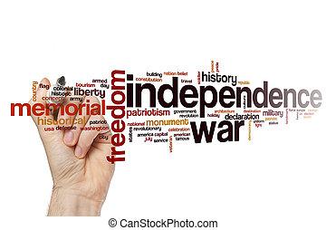 Independence war word cloud