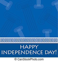 independencia, feliz, griego, day!