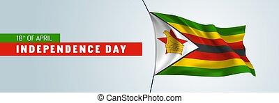 independencia, tarjeta, bandera, día, feliz, saludo, vector,...