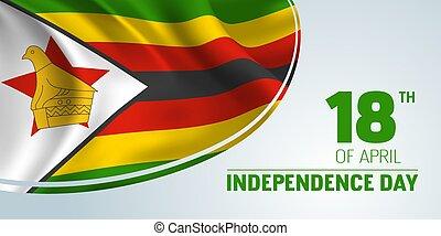 independencia, tarjeta, bandera, saludo, día, vector,...