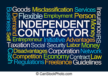 Independent Contractor Word Cloud