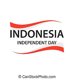 Independent day indonesian flag banner