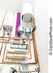independent heating system with electric boiler