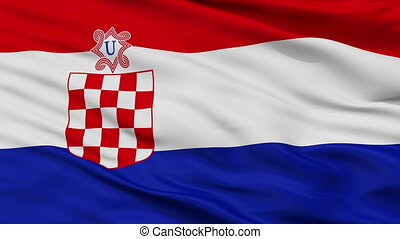 Independent State Of Croatia War Flag Closeup Seamless Loop...