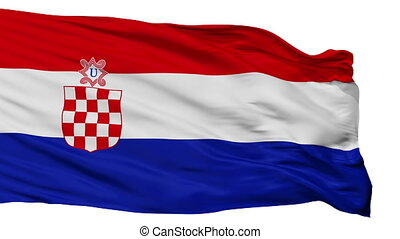 Independent State Of Croatia War Flag Isolated Seamless Loop...