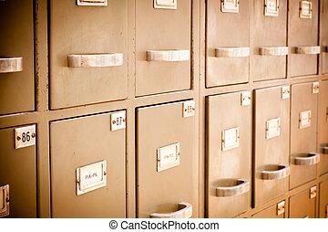 Index cards cabinet