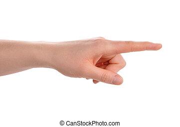 Index finger pointing direction - Index finger pointing...