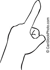 Index Finger Pointing Up - Vector illustration of a hand...