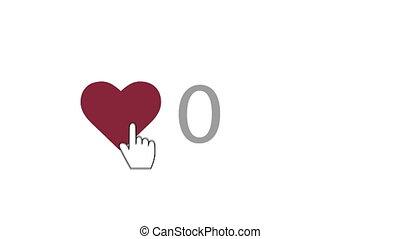 """Index finger pressing heart 10,000 times"" - ""Original 3d..."