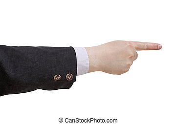 index, -, pointage, geste, main