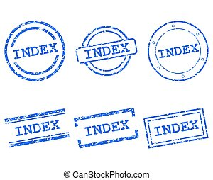 Index stamps