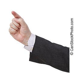 index, urgent, -, geste, main