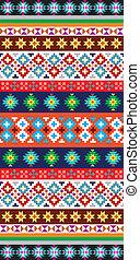 indfødt, aztek, mønster