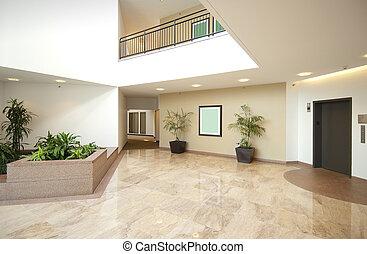 indgang, vestibule, kontor