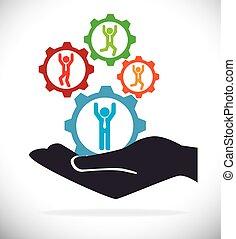 indgreb, rekrut, isoleret, konstruktion, menneskelige ressourcer