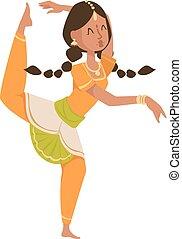 indián, tanečník, bollywood, tradiční, strana, culture.