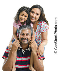 indiër, aziatische familie, vrolijke