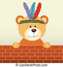 indiër, beer, teddy