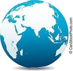 India, Africa, China, Global World