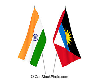 India and Antigua and Barbuda flags - National fabric flags ...