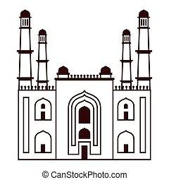 india charminar temple landmark icon