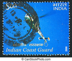 helicopter of Indian Coast Guard