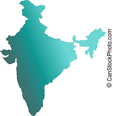 India Country Map. Vector Illustration