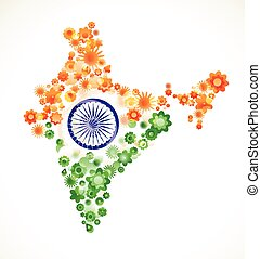 india, día, independencia