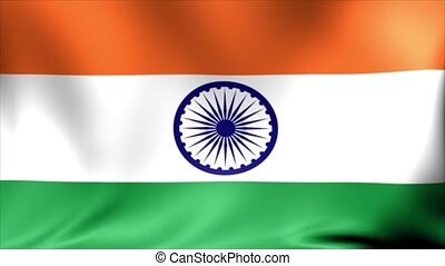 India Flag. Background Seamless Looping Animation.