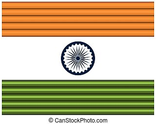 India flag, flat design. Vector illustration