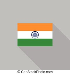 India flag flat design vector illustration