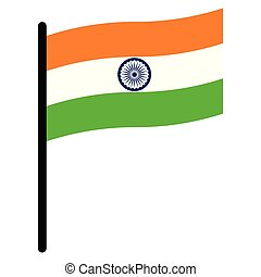 India flag flat icon