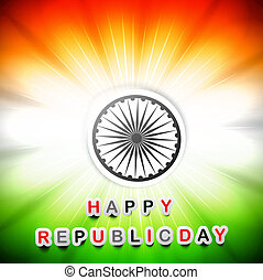 India flag happy republic day beautiful design art vector