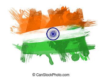 India Flag in Black Background