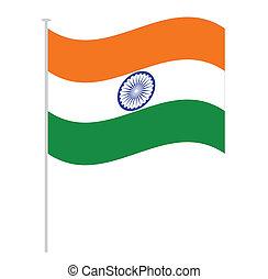 india flag isolated on white orange