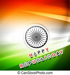 India flag republic day beautiful wave tricolor stylish vector design art